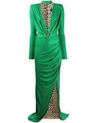 Philipp Plein Платье С Глубоким Вырезом - Зеленый