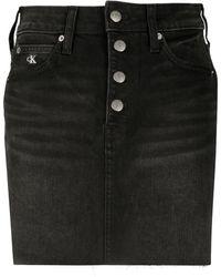 Calvin Klein - ミッドライズ デニムミニスカート - Lyst