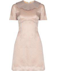 Emilia Wickstead Metallic Mini Dress