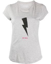 Zadig & Voltaire T-shirt à imprimé graphique - Gris