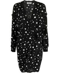 Essentiel Antwerp Zuffalo ハートプリント ドレス - ブラック