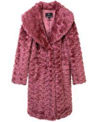 Unreal Fur Шуба Из Искусственного Меха - Розовый