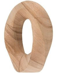 Monies Oversized Sculpted Bangle - Multicolour