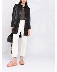 Pinko オーバーサイズ レザーシャツ - ブラック