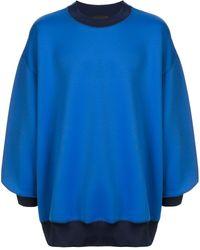 Kolor Jersey con panel con diseño colour block - Azul