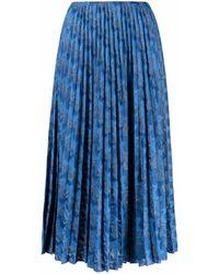 M Missoni ジグザグ Aラインスカート - ブルー
