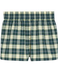 Burberry - Checked Shorts - Lyst