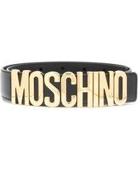 Moschino Cinturón con logo - Negro