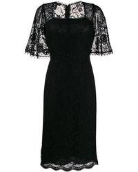 ESCADA Lace Panel Dress - Black