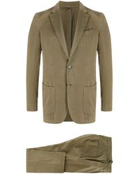 Dell'Oglio Fitted Two-piece Suit - Green