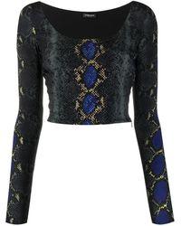 Versace Oberteil mit Print - Mehrfarbig