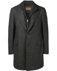 Corneliani - Zipped Single-breasted Coat - Lyst