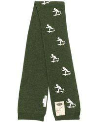 Golden Goose Deluxe Brand インターシャ ニットスカーフ - グリーン