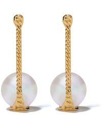 Tasaki 18kt Yellow Gold Stretched Earrings - Metallic