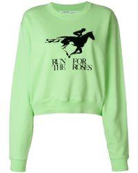Off-White c/o Virgil Abloh - Run For The Roses Sweater - Lyst