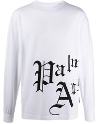 Palm Angels Sweater Met Logoprint - Wit