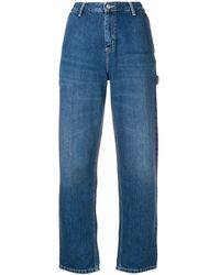 Carhartt WIP Logo Patch Straight Jeans - Blue