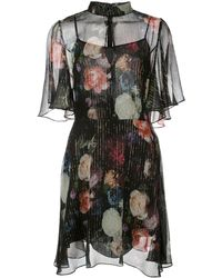 Adam Lippes Vestido corto con estampado floral - Negro