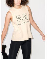 P.E Nation ロゴ タンクトップ - ナチュラル