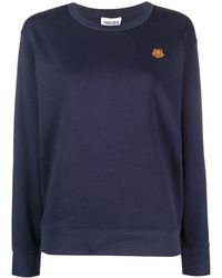 KENZO Embroidered Logo-patch Top - Blue