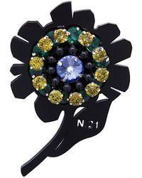 N°21 - Flower Embellished Brooch - Lyst