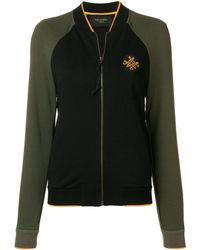 Mr & Mrs Italy Two-tone Zipped Sweatshirt - Green