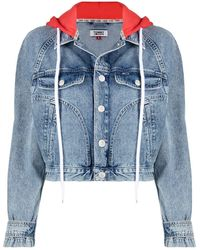 Tommy Hilfiger Cropped Denim Jacket - Blue