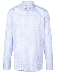 Gucci G Dot Fil Coupé Oxford Shirt - Blue