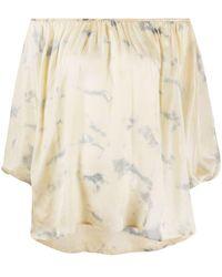 Mes Demoiselles Блузка С Открытыми Плечами И Принтом Тай-дай - Многоцветный