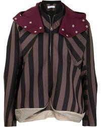 Kiko Kostadinov Striped Hooded Jacket - Multicolour