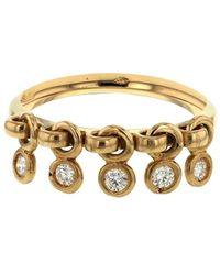 Dior Золотое Кольцо Coquine С Бриллиантами Pre-owned - Металлик