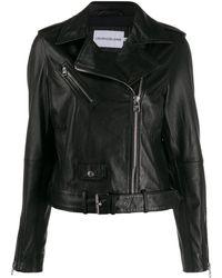 Calvin Klein ライダースジャケット - ブラック