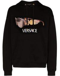 Versace Sudadera con capucha y motivo de gafas de sol - Negro