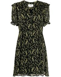 Ba&sh Matcha フローラル ドレス - ブラック