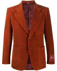 Gucci Ribfluwen Blazer - Oranje
