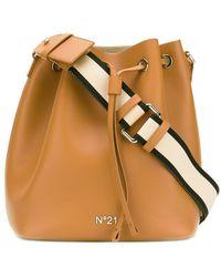 N°21 Bucket-style Shoulder Bag - Brown