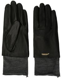 Undercover Layered Two Tone Gloves - Black