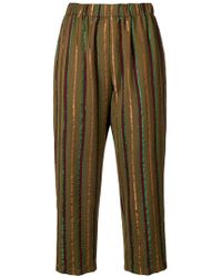 Forte Forte - Striped Print Cropped Trousers - Lyst
