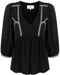Ba&sh Блузка Amber Со Сборками - Черный
