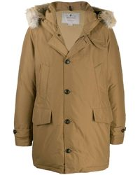 Woolrich Padded Parka Coat - Brown