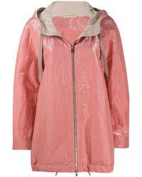 Brunello Cucinelli Куртка На Молнии С Капюшоном - Розовый