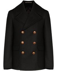 Givenchy Double-breasted Long-sleeve Coat - ブラック