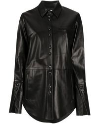 DROMe レザーシャツ - ブラック