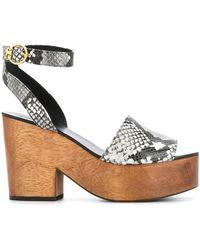 14360f27521 Tory Burch - Snake-effect Platform Sandals - Lyst