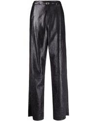 DROMe Pantalon ample en cuir - Noir