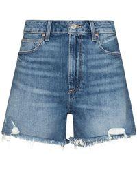 PAIGE Dani High-waisted Denim Shorts - Blue