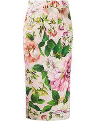 Dolce & Gabbana Kokerrok Met Bloemenprint - Roze