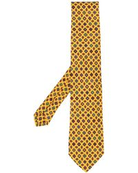 Etro Krawatte mit Paisley-Print - Gelb