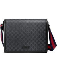 Gucci GG Supreme Messengerbag - Zwart