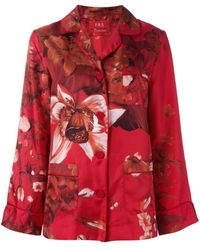 F.R.S For Restless Sleepers Floral Print Pyjama Blouse - Rood